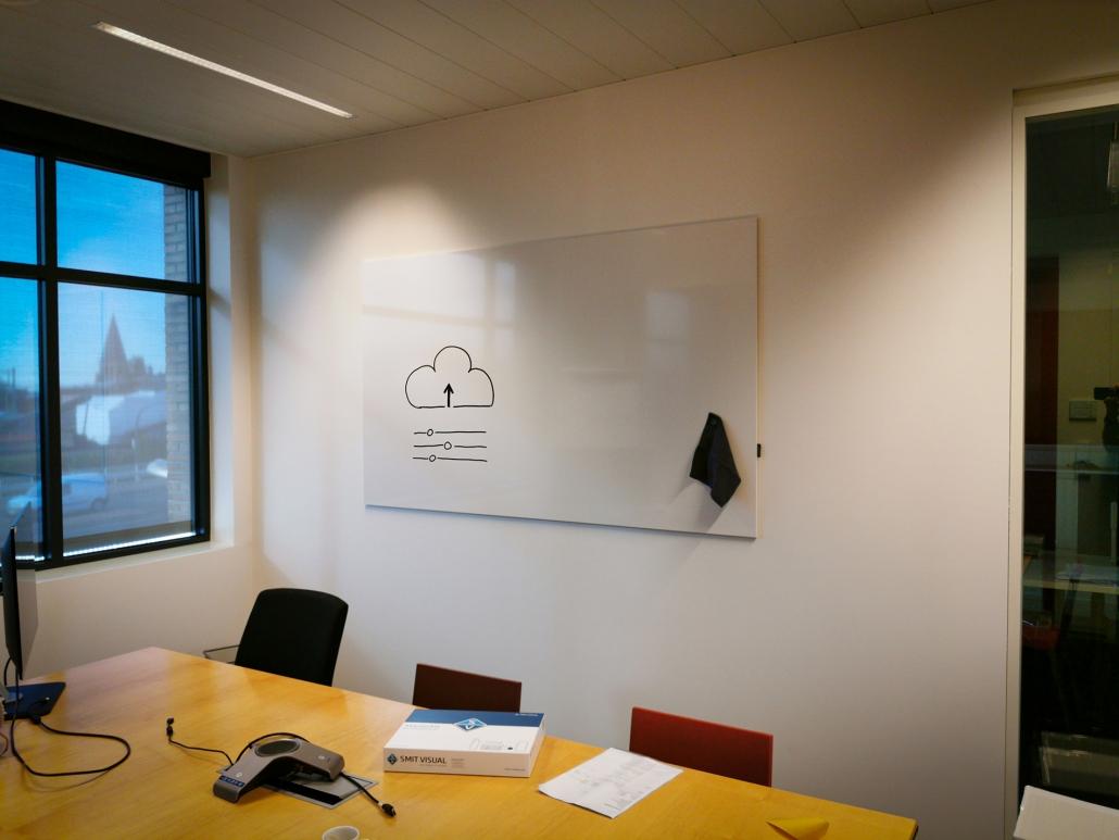 enkel whiteboard zonder frame
